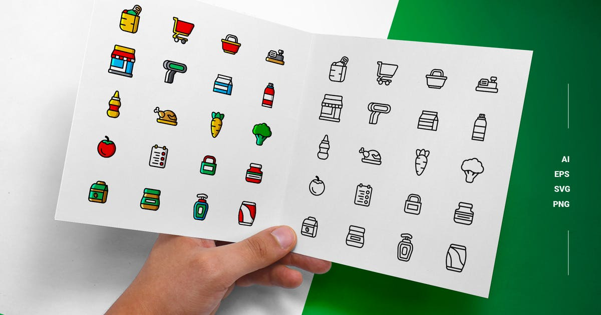 Download Grocery - Icons by esensifiksi