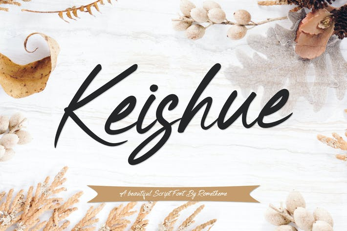 Thumbnail for Keishue Script font