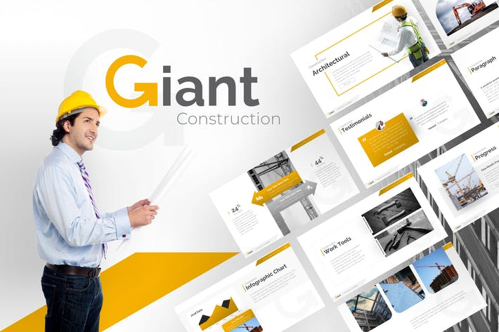 Thumbnail for Giant Construction PowerPoint Template