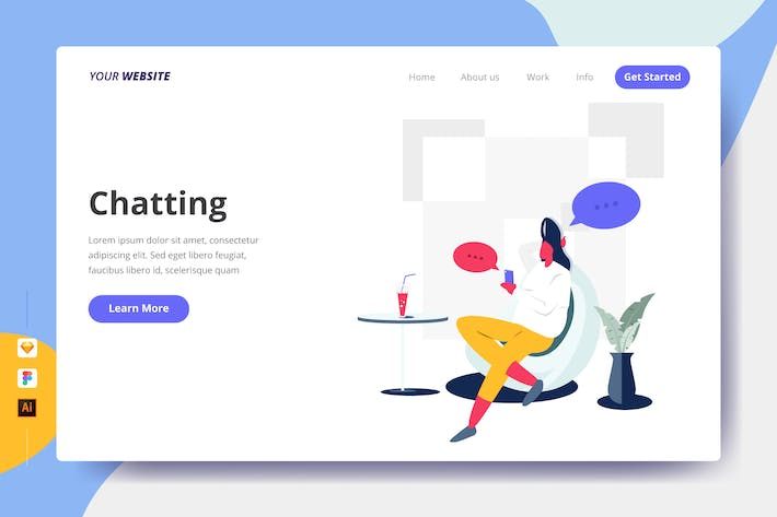 Thumbnail for Chatting - Landing Page