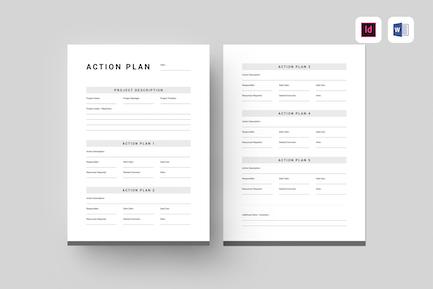 Action Plan | Pdf, MS Word, Indesign
