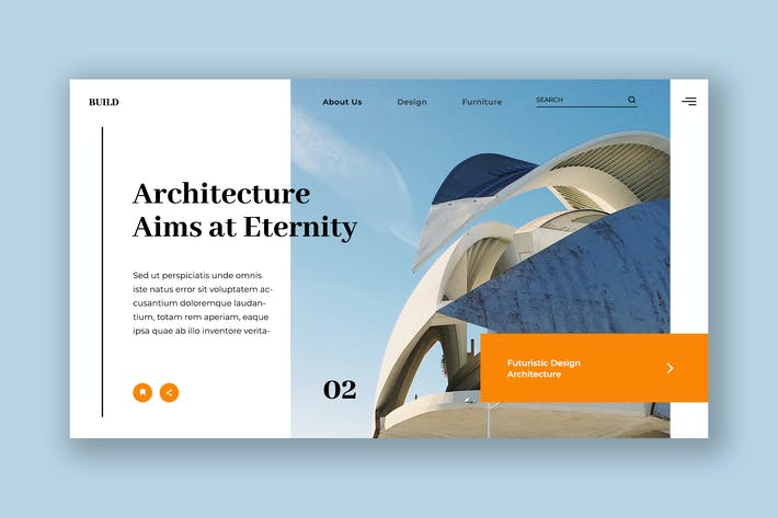 Thumbnail for Architecture Hero Header PSD Template