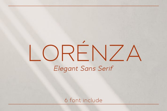 Thumbnail for LORENZA - Elegant Sans Serif