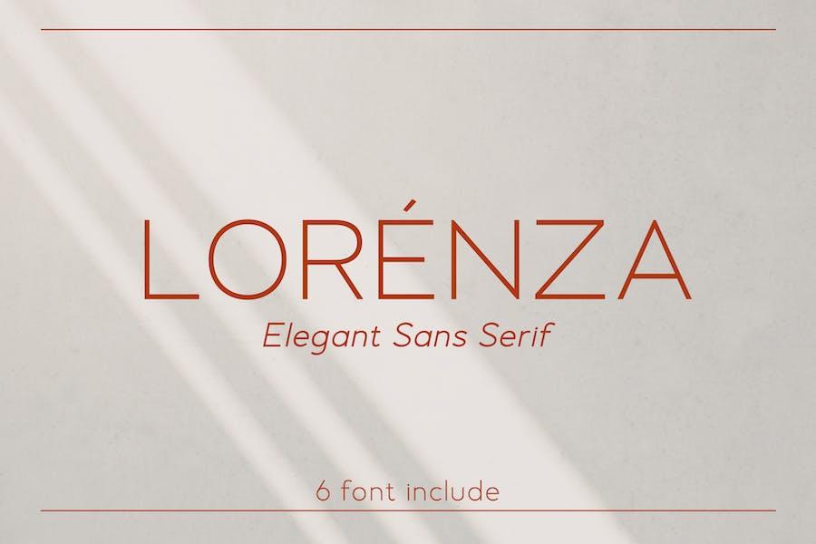LORENZA - Elegant Sans Serif