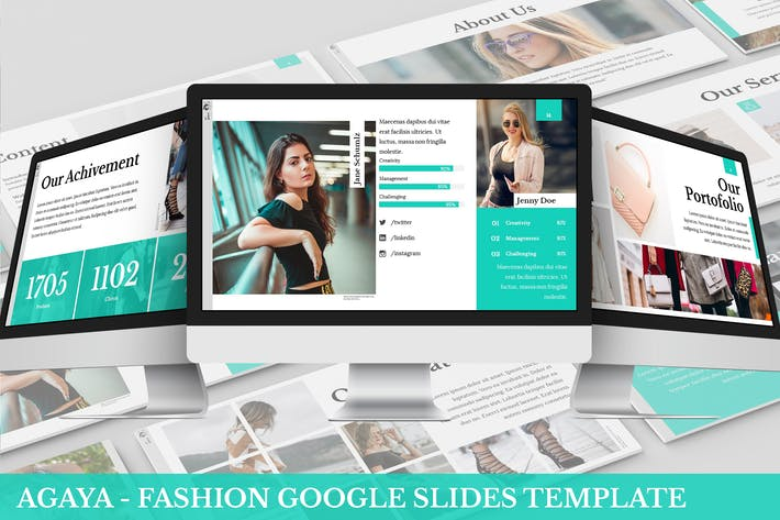 Thumbnail for A-Gaya - Fashion Google Slides Template
