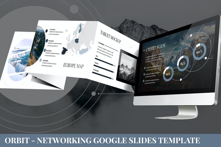 Thumbnail for Orbit - Networking Google Slides Template