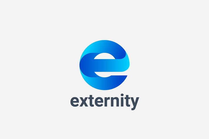Thumbnail for Letter E Logo Digital Technology