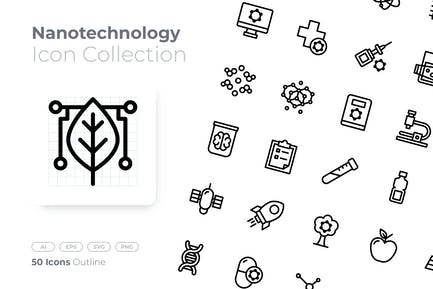 Nanotechnology Outline Icon