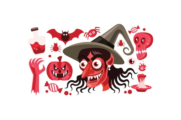 Thumbnail for Set of Halloween Vector Illustration