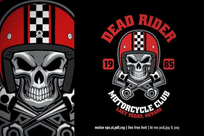 Thumbnail for skull rider vintage motorcycle club logo
