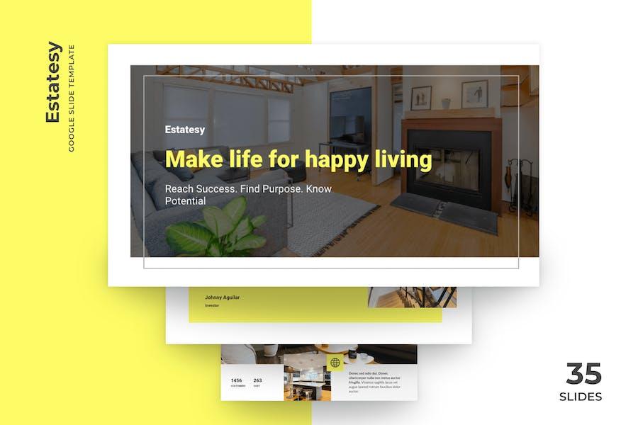 Estatesy - Realtor Google Slides Template