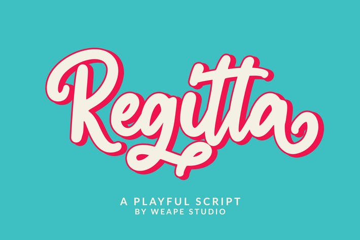 Thumbnail for Regitta - Playful Script