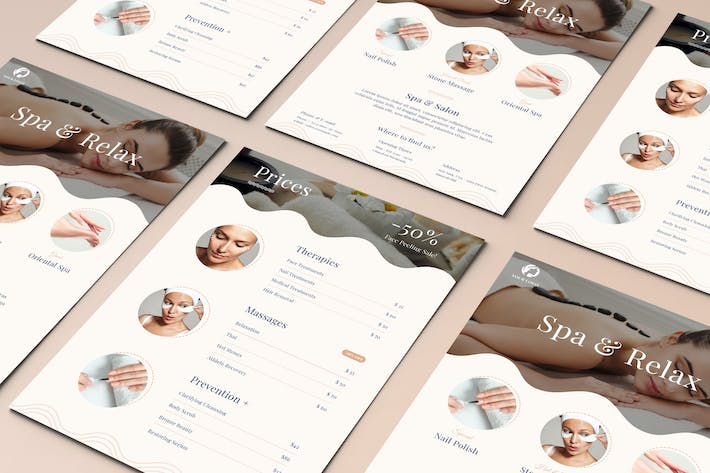 Thumbnail for Spa Relax Two Sided Price List Flyer