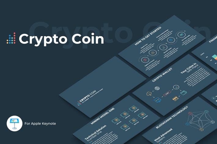 Thumbnail for Crypto Coin Keynote Template