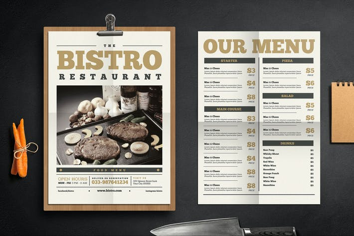 Cover Image For Newspaper Menu