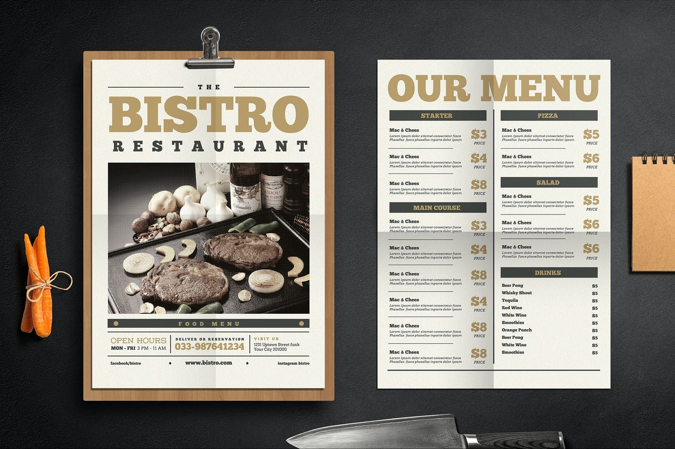 Newspaper Menu by Guuver on Envato Elements