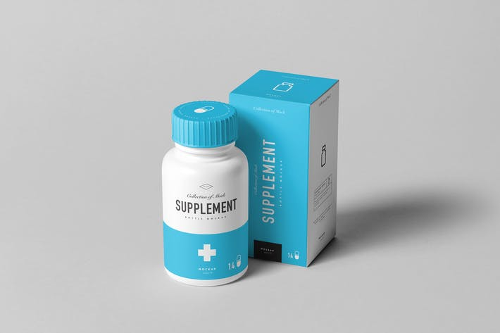 Thumbnail for Supplement Jar & Box Mock-up 9