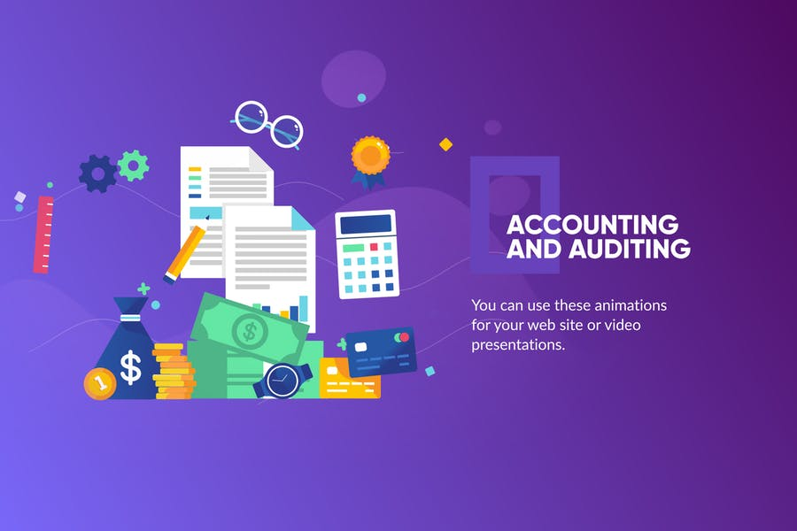 Accountancy Banner & Landing Page