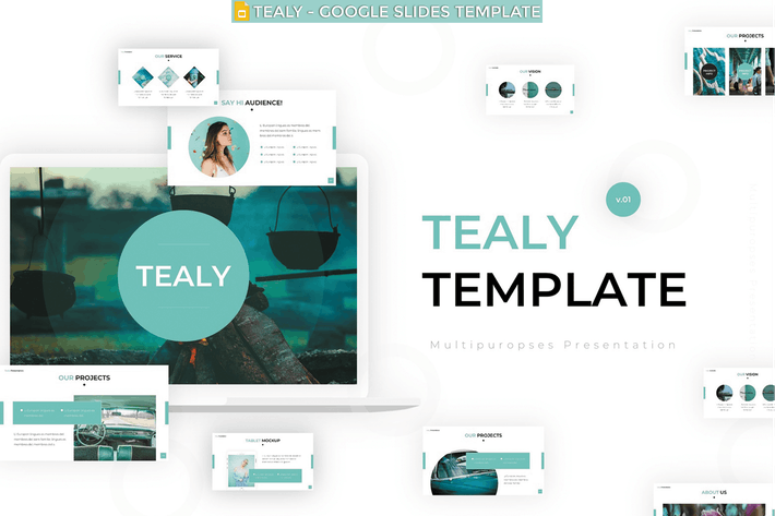 Thumbnail for Tealy - Google Slides Template