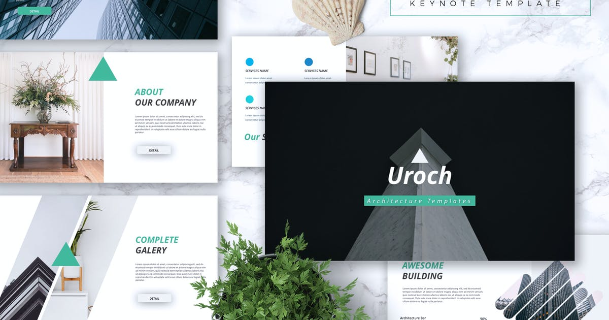 Download UROCH - Architecture Keynote Template by RahardiCreative
