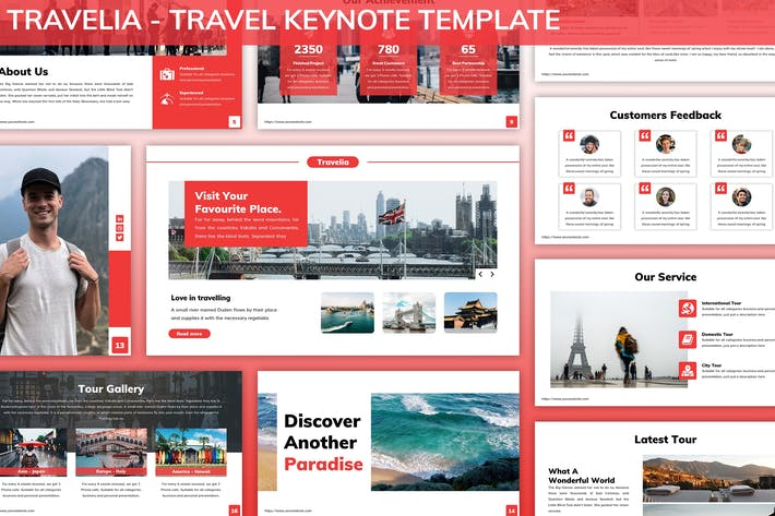 Thumbnail for Travelia - Travel Keynote Template
