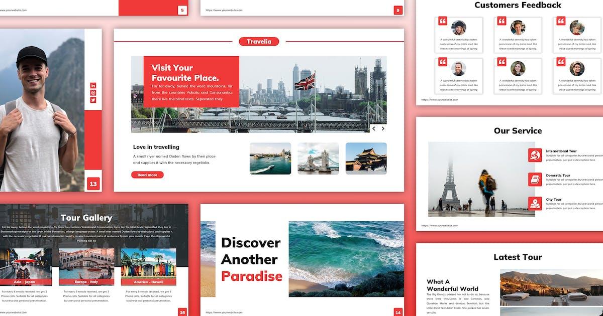 Download Travelia - Travel Keynote Template by SlideFactory