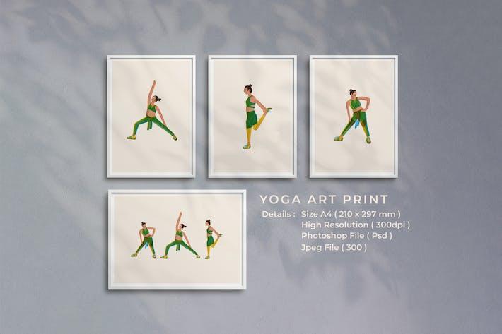 Yoga-Kunstdruck