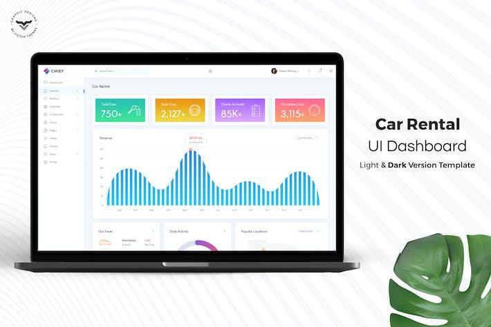 Thumbnail for Kit de interfaz de usuario Panel de control administración de alquiler de coches
