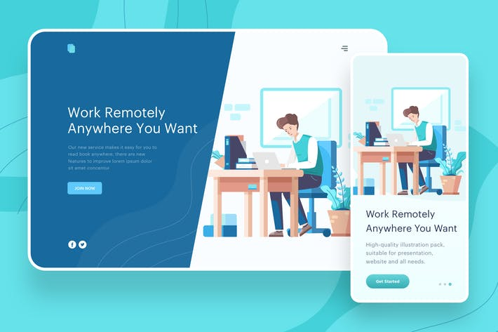 Thumbnail for Work Remotely Anywhere - Website Header