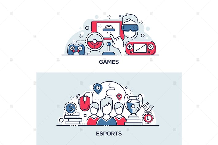 Thumbnail for Esports and games linear banners