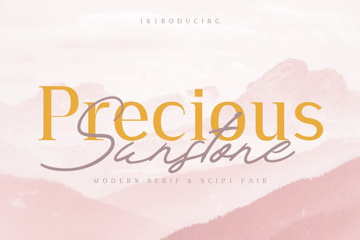 Thumbnail for Precious & Sunstone Modern Font Duo