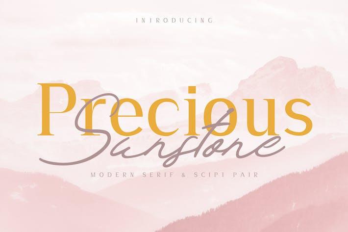 Thumbnail for Duo de polices modernes Precious & Sunstone