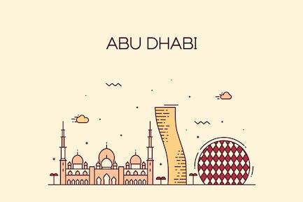 Abu Dhabi skyline, Arab Emirates