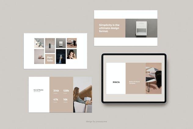 MACA - Powerpoint Media Kit Branding Template