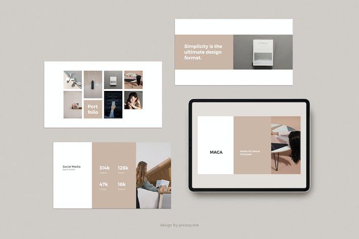 Thumbnail for MACA- Шаблон брендирования медиа-комплекта Powerpoint