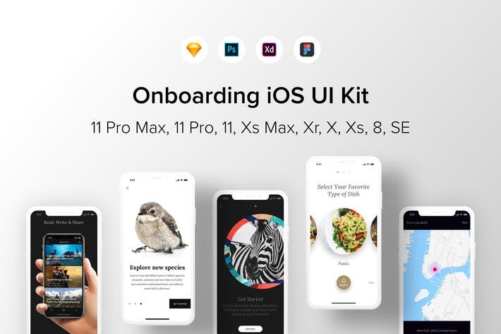 Thumbnail for Onboarding iOS UI Kit