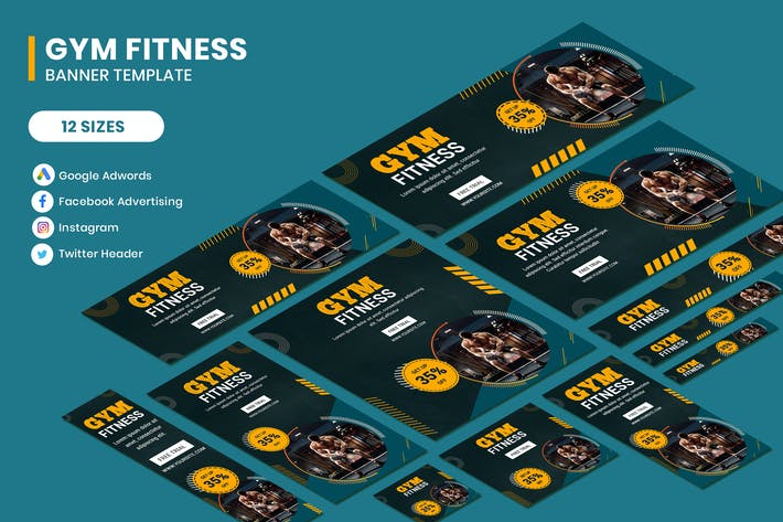 Thumbnail for Gym Fitness Google AD Template