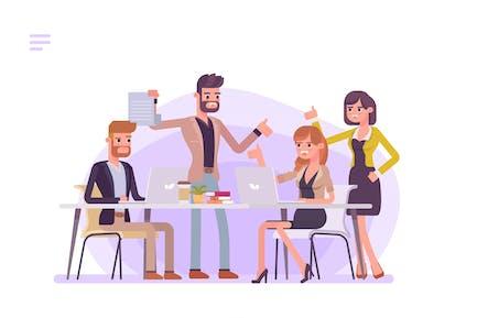 Business People Meeting Brainstorming