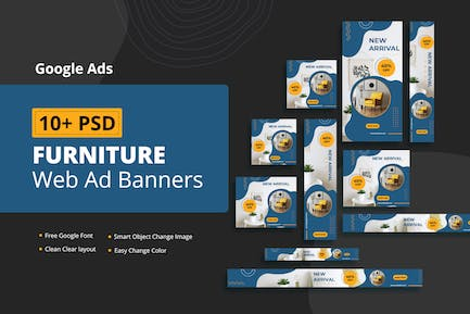 Furniture Web Ad Banners