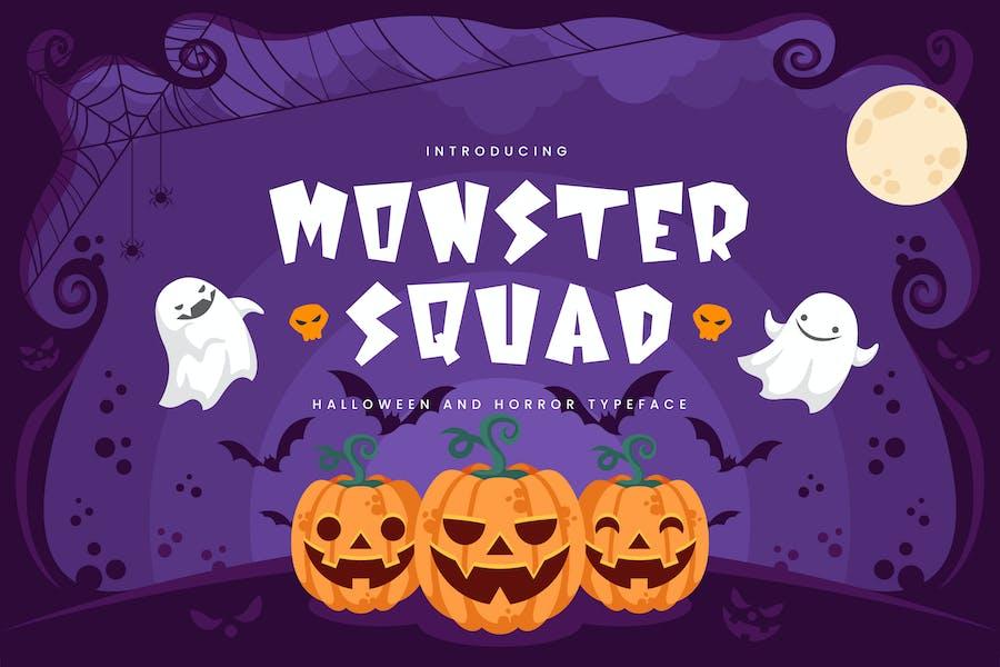 Monster Squad - Fun Halloween Tipo de letra