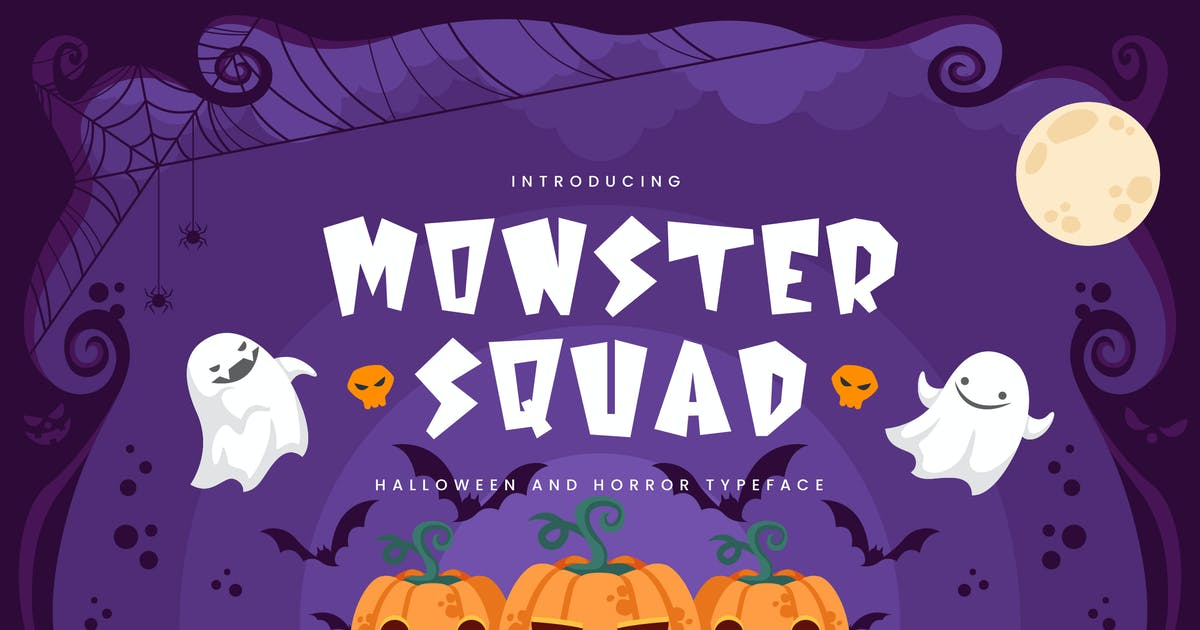 Download Monster Squad - Fun Halloween Typeface by naulicrea