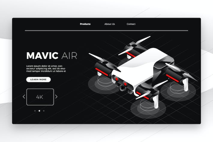 Thumbnail for Drone - Banner & Landing Page