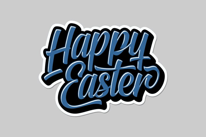 Thumbnail for Happy Easter Lettering 2