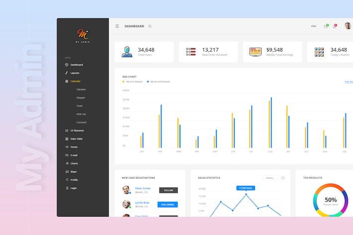 My Admin | Material Design Admin Template