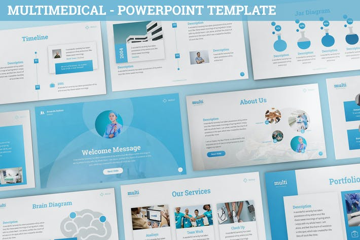 Thumbnail for MultiMedical - Powerpoint Presentation Template