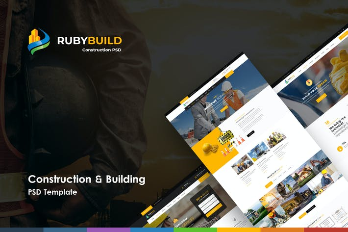 Thumbnail for RubyBuild | Construction & Building PSD Template