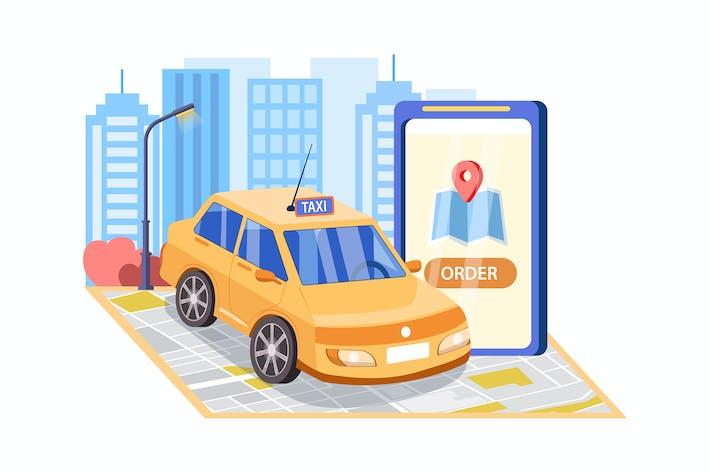 Thumbnail for Online Mobile Taxi-Service-app Konzept