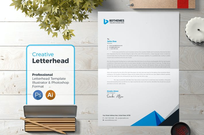 Thumbnail for Business Letterhead Template 22