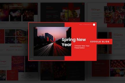 Spring New Year - Google Slide Template