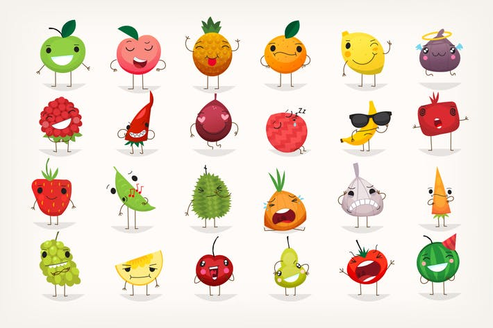 Cover Image For Fruit emoticons